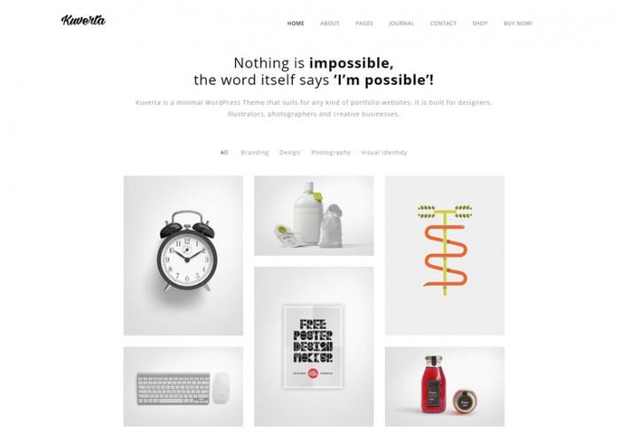 Kuverta – Premium Responsive Minimal Portfolio WordPress Theme