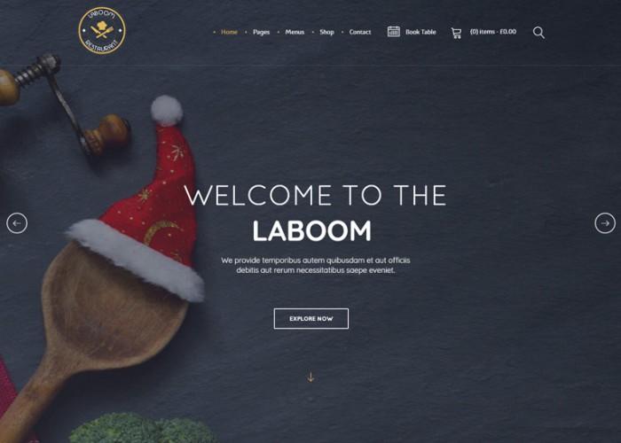 La Boom – Premium Responsive Food & Restaurant Bistro WordPress Theme