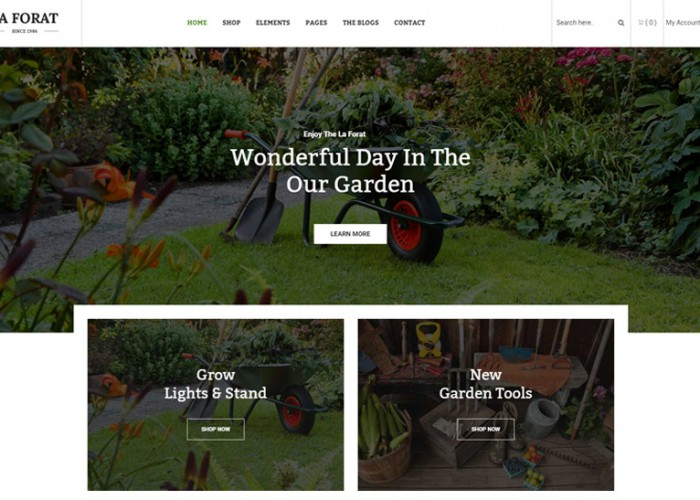LaForat – Premium Responsive Gardening and Landscaping WordPress Theme