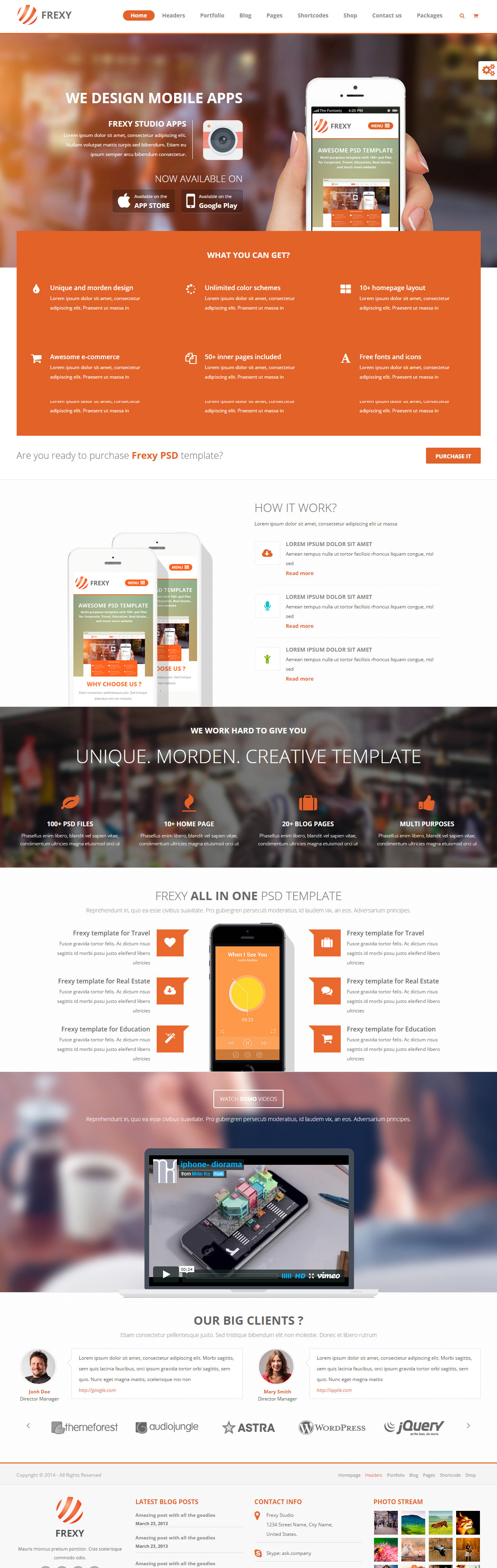 40 Best HTML5 Mobile App Templates in 2017 - Responsive Miracle