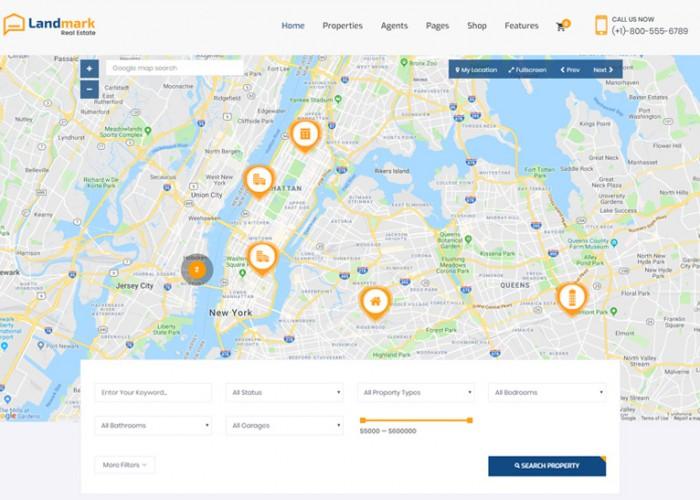 Landmark – Premium Responsive Real Estate HTML5 Template