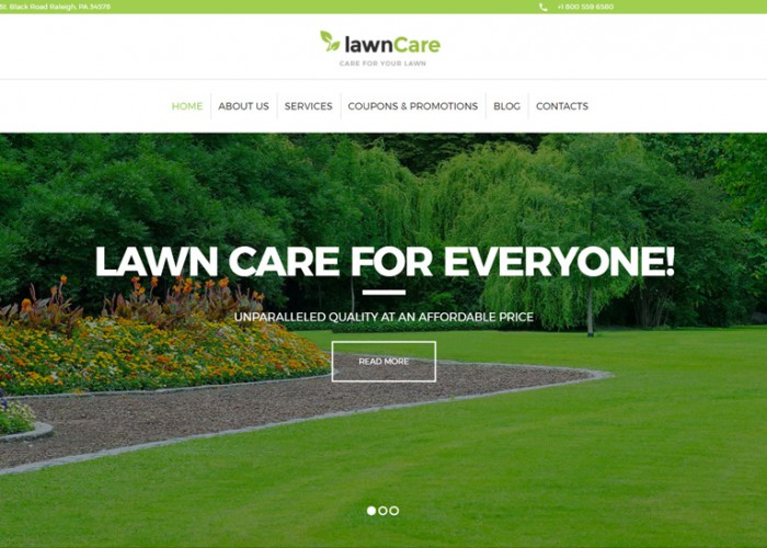 Lawn Care – Premium Responsive Lawn Mowing & Landscape WordPress Theme