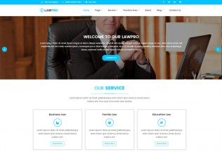 LawPro – Premium Responsive Lawyer & Law Agency HTML5 Template