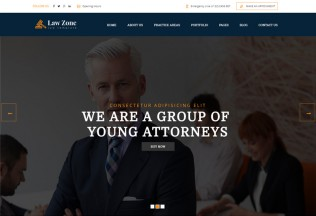Lawzone – Premium Responsive Lawyer and Attorney HTML5 Template
