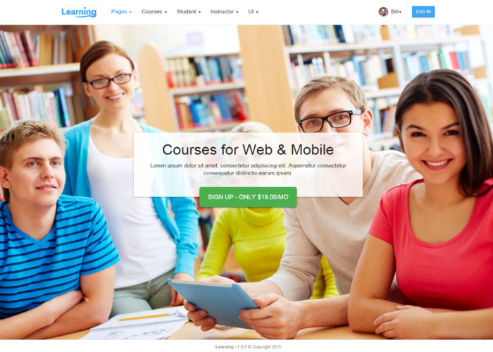 Learning App – Premium Responsive Learning Management System HTML5 Template