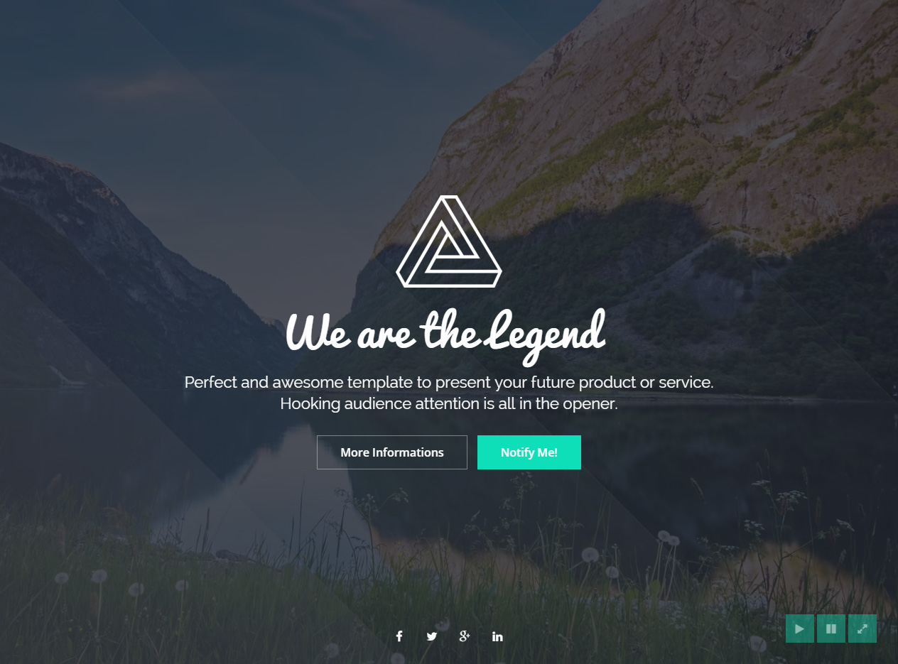LEGEND - Premium Responsive Coming Soon HTML5 Template