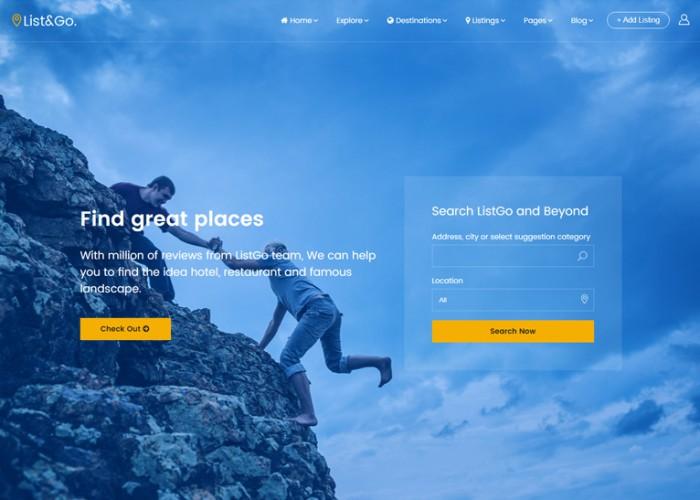 ListGo – Premium Responsive Directory WordPress Theme