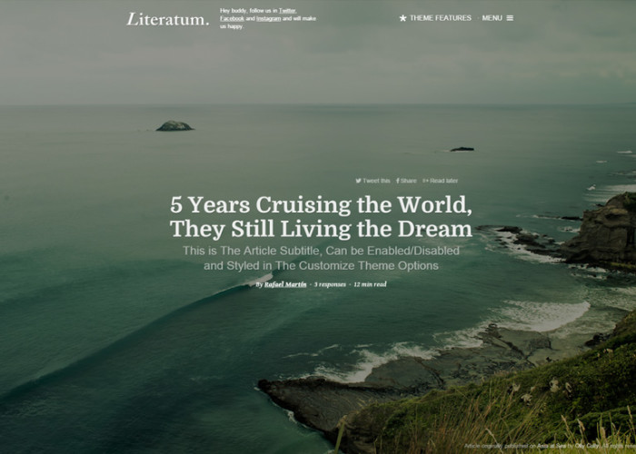 Literatum – Premium Responsive Writers WordPress Theme