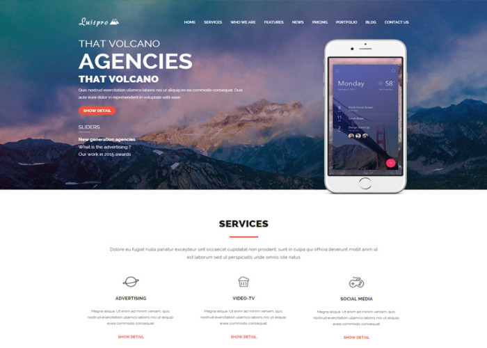 Luispro – Premium Responsive One Page Creative HTML5 Template