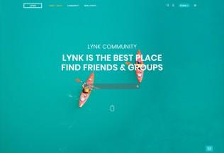 Lynk – Premium Responisve Social Networking and Community WordPress Theme