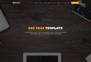 Magic – Premium Responsive Multipurpose One Page HTML5 Template