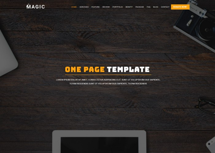 Magic – Premium Responsive Multipurpose One Page HTML5 Template