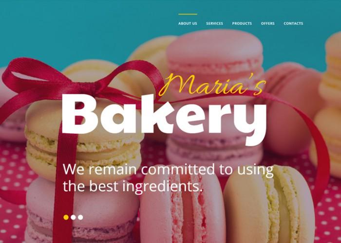Maria's Bakery – Premium Responisve HTML5 Template