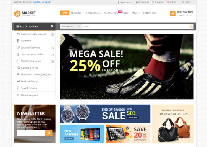 Market – Premium Responsive Multipurpose OpenCart Theme