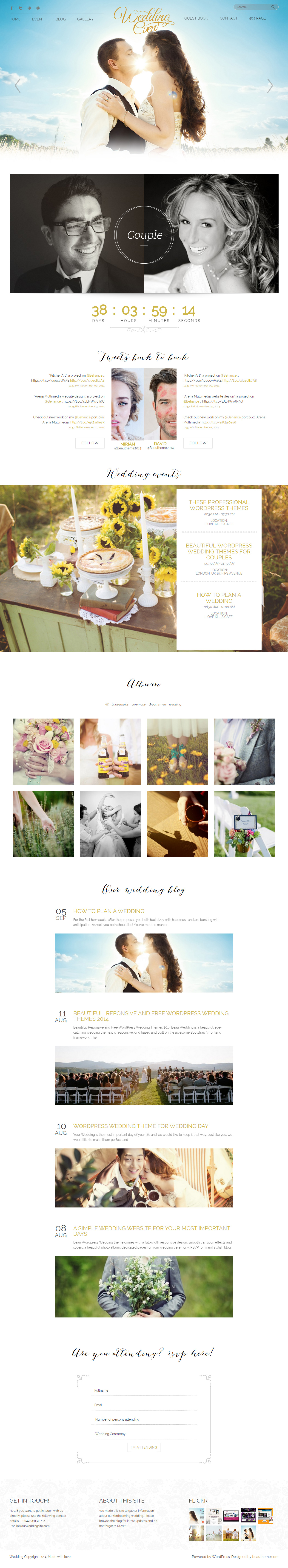 Marry Me - Premium Responsive Wedding Wordpress Theme