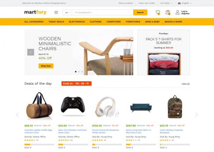 Martfury – Premium Responsive WooCommerce Marketplace WordPress Theme