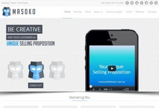 Masoko – Premium Responsive Flat Marketing Joomla Template