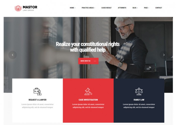 Mastor – Premium Responsive Law WordPress Theme