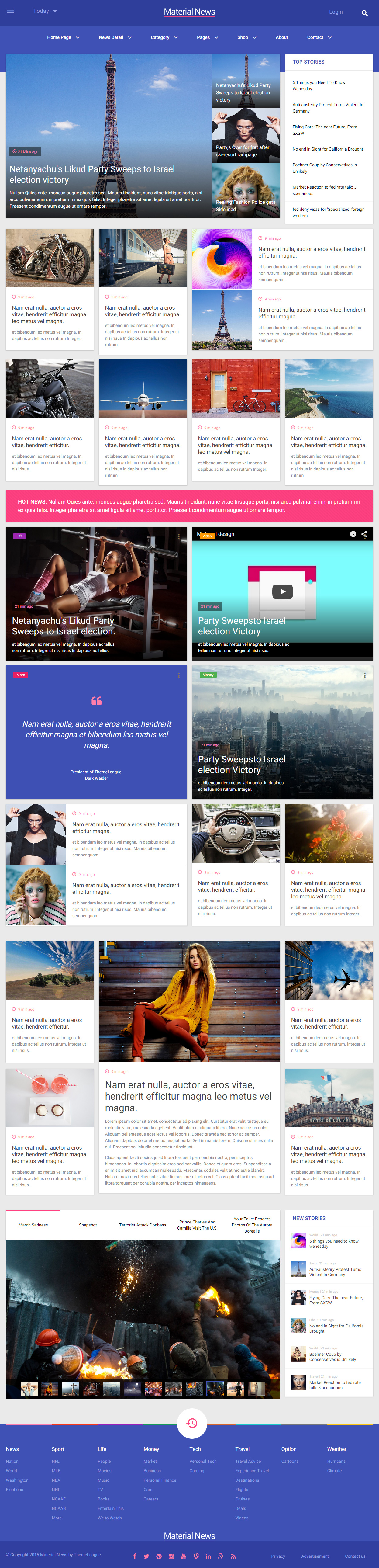 10 best responsive news and magazine html5 templates in 2015 0