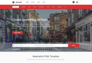 Materialist – Premium Responsive Material Directory HTML5 Template