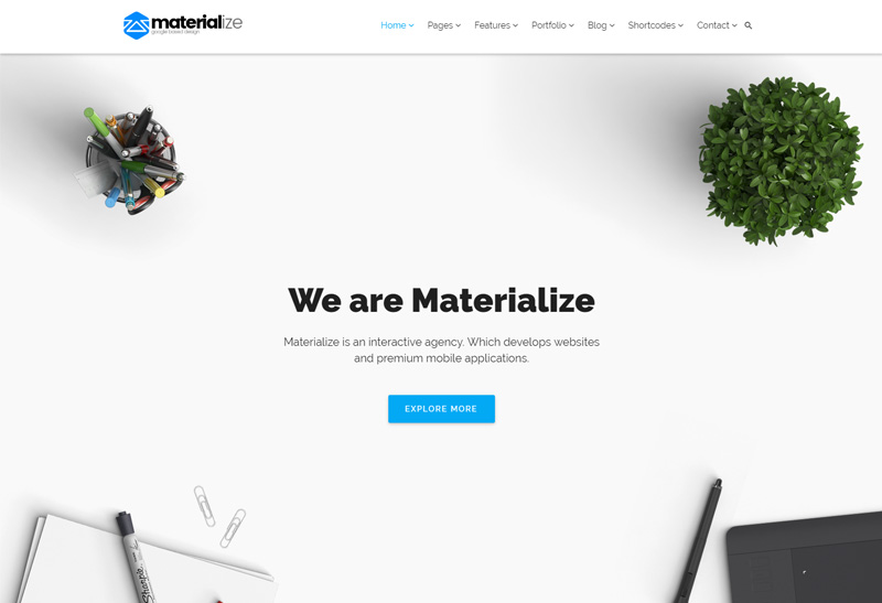 Materialize premium responsive material design for How to materialize