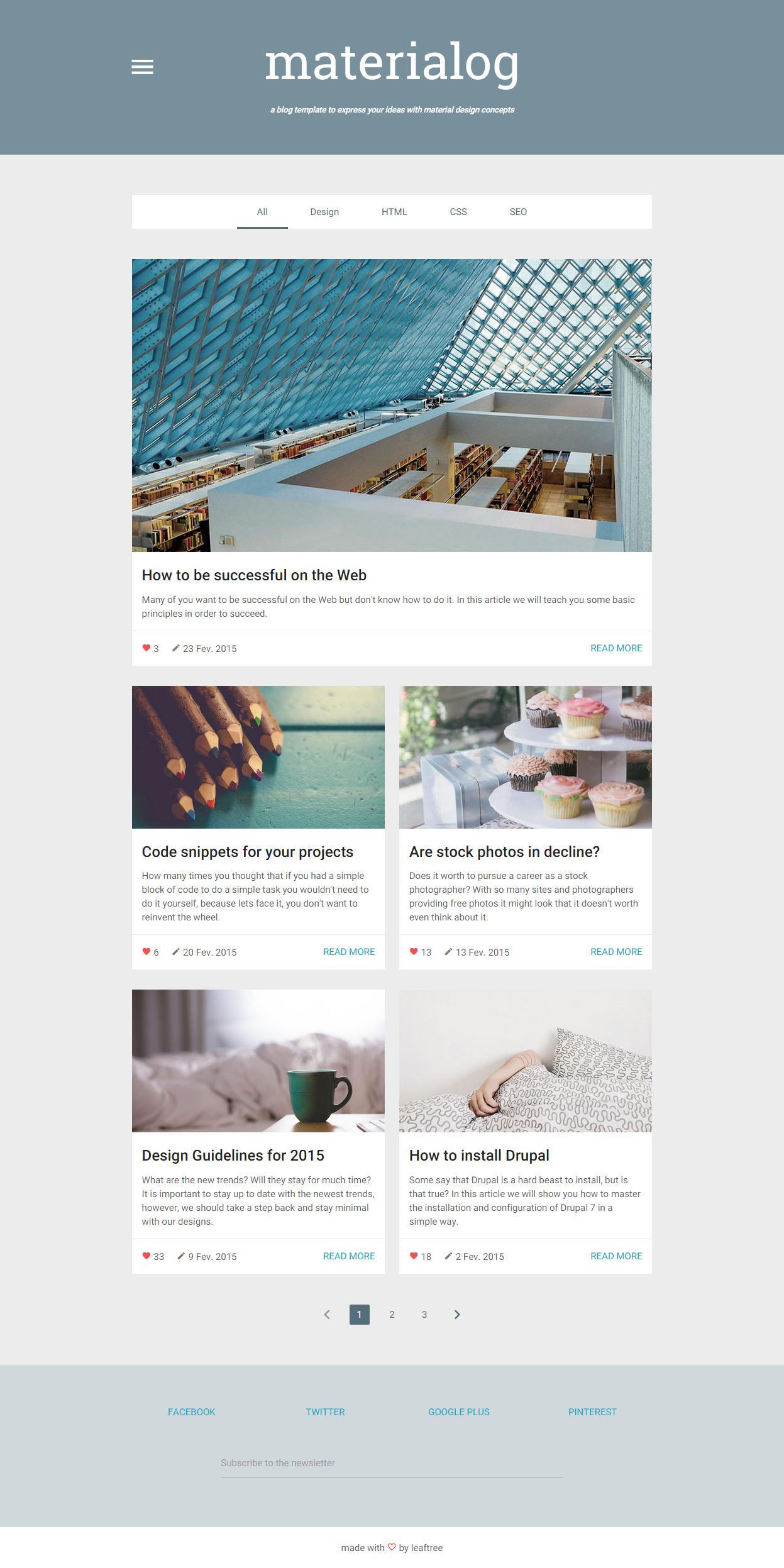 materialog - Premium Responsive Material Design HTML5 Template