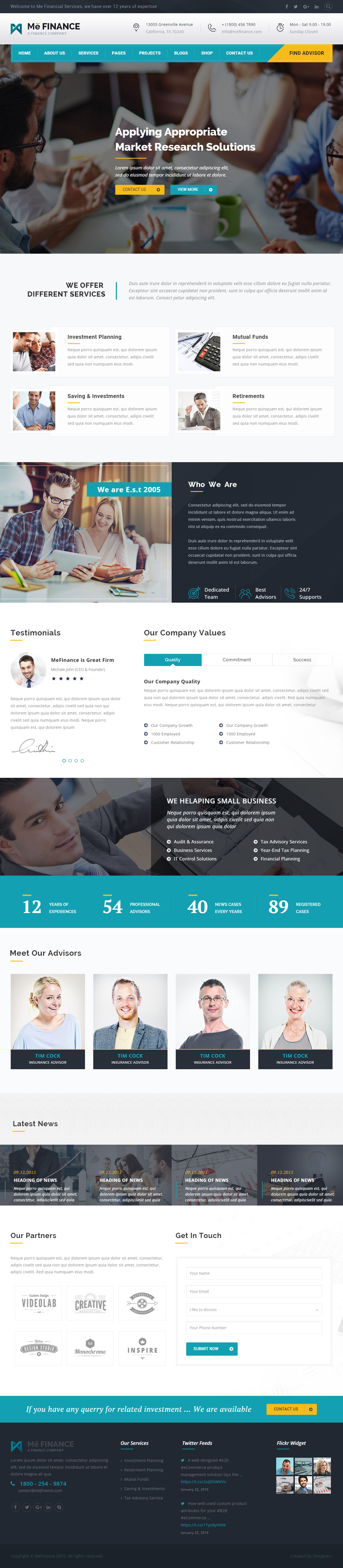 40 best html5 business website templates 2017 responsive miracle me finance html5 business website templates wajeb Image collections