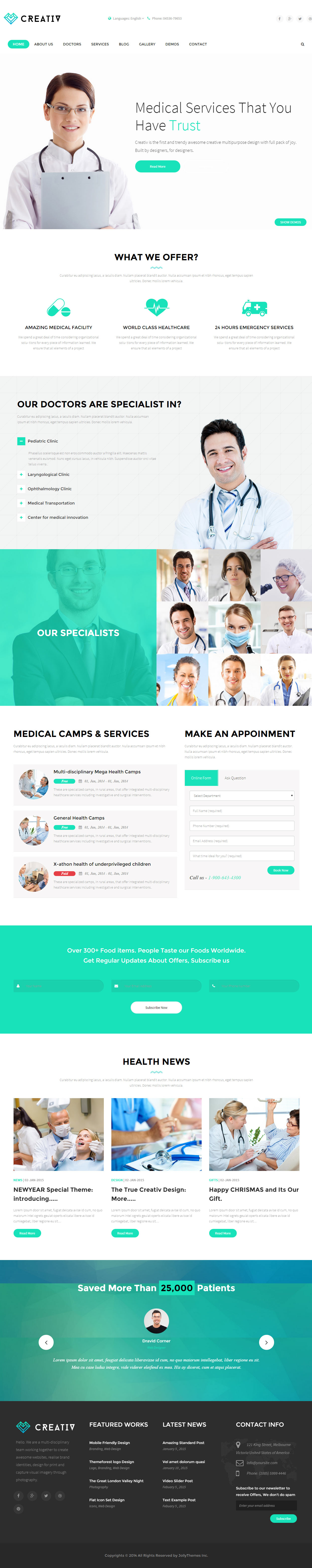 15 best responsive medical healthcare html5 templates 2015 responsive miracle. Black Bedroom Furniture Sets. Home Design Ideas