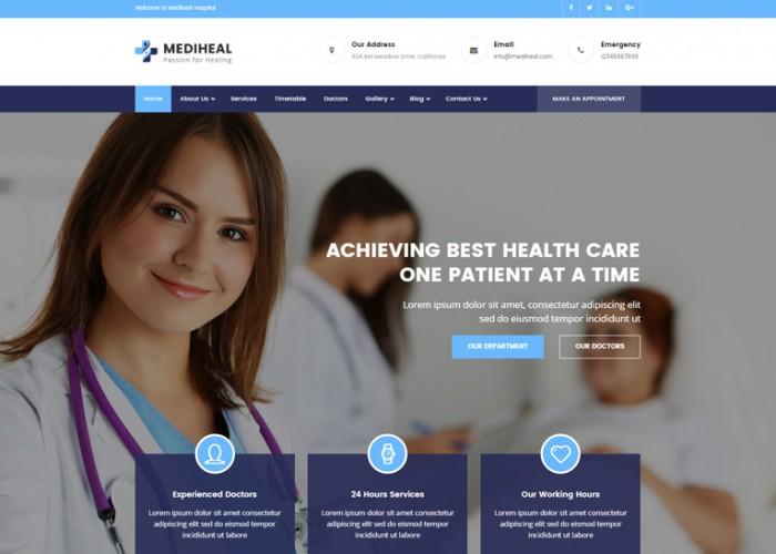 MediHeal – Premium Responsive Health and Medical WordPress Theme