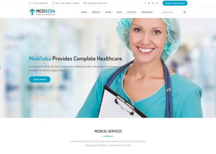 Mediseba – Premium Responsive Medical & Healthcare HTML5 Template