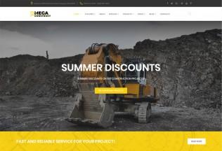Mega Construct – Premium Responsive Construction Company HTML5 Template