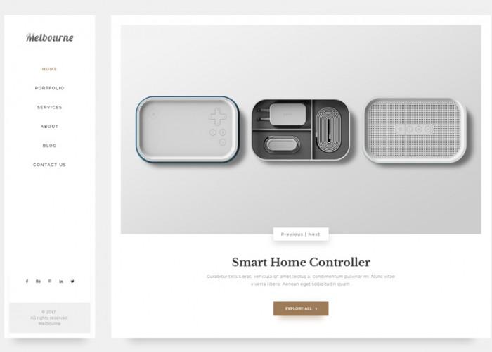 Melbourne – Premium Responsive Minimal Elegant Portfolio HTML5 Template