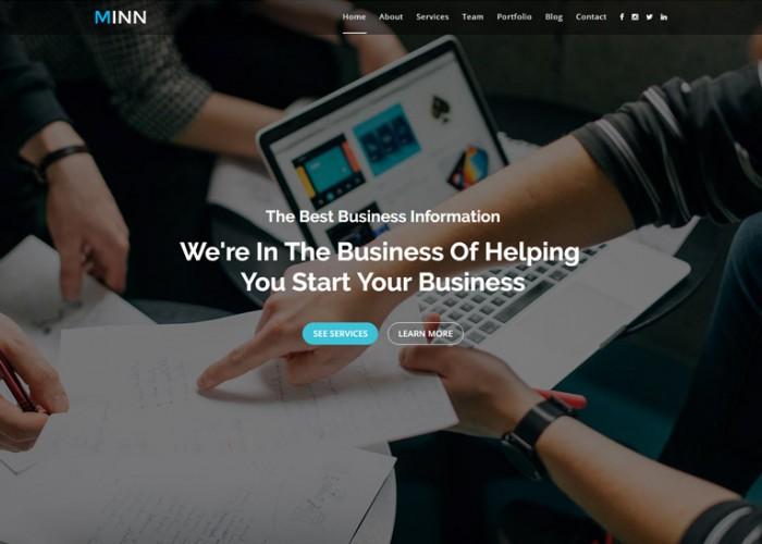 Minn – Premium Responsive Onepage Multipurpose Business HTML5 Template