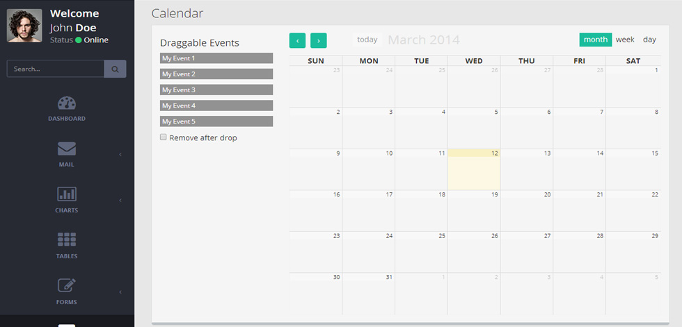 Mint Premium Responsive Retina Flat Admin Dashboard Template