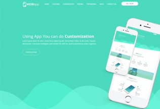 Mobiapp – Premium Responsive App Landing Page HTML5 Template