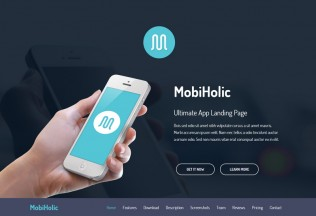 MobiHolic – Premium Responsive Ultimate App Landing Business HTML5 Template
