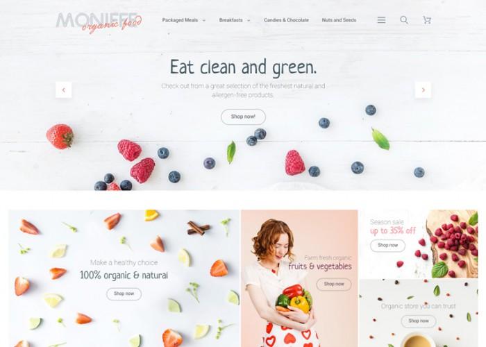 Monifee – Premium Responsive Food Magento Theme