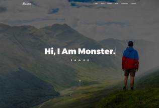 Monster – Premium Responsive Personal Portfolio HTML5 Template