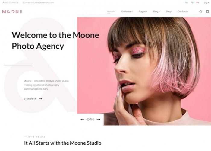 Moone – Premium Responsive Photography Portfolio WordPress Theme