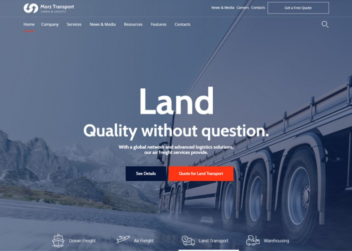 Morz – Premium Responsive Transport Cargo Logistic WordPress
