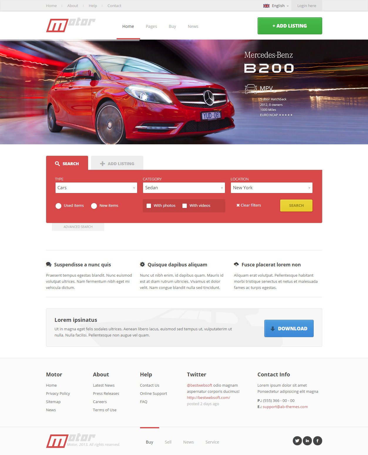 5 best responsive html5 cars car dealership templates 2014 0