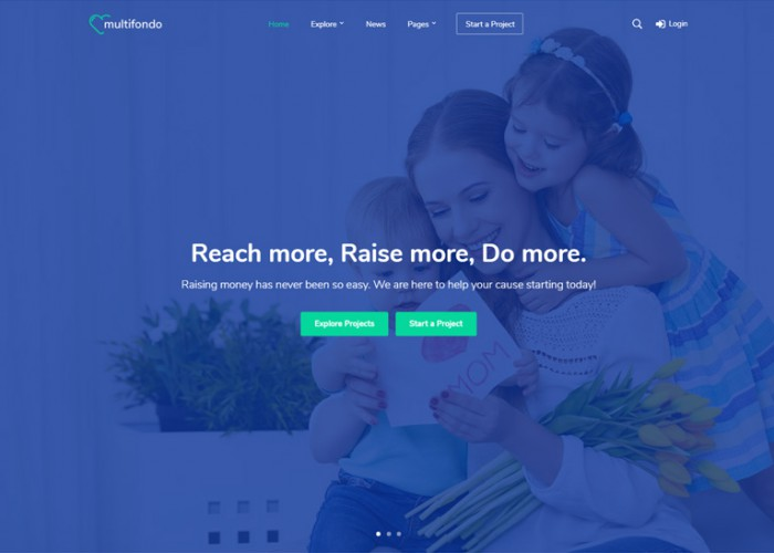 Multifondo – Premium Responsive Crowdfunding & Charity WordPress Theme