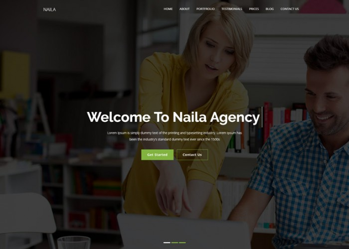 Naila – Premium Responsive One Page MultiPurpose WordPress Theme