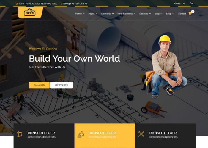 Neer – Premium Responsive Construction Business WordPress Theme