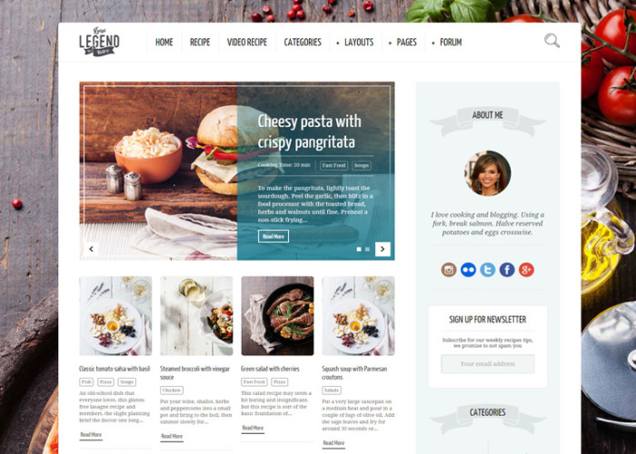 Neptune – Premium Responsive WordPress Theme for Food Recipe Bloggers & Chefs