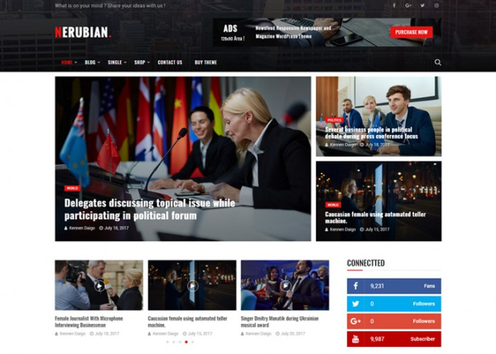 Nerubian – Premium Responsive News & Magazine WordPress Theme