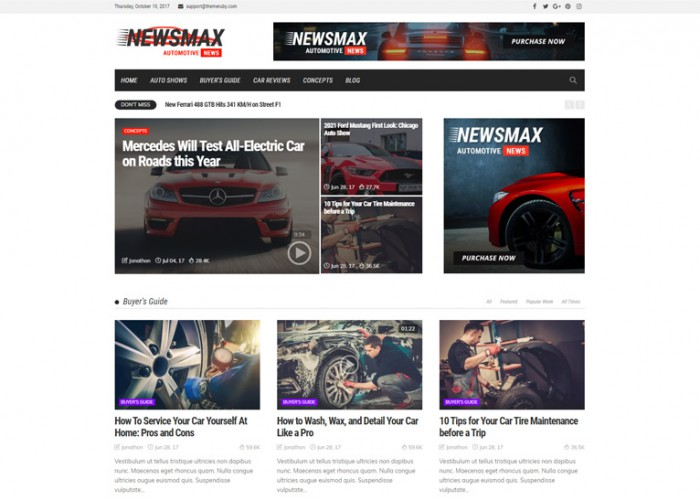 Newsmax – Premium Responsive MultiPurpose News & Magazine WordPress Theme