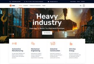 Nex – Premium Responsive Factory & Industrial WordPress