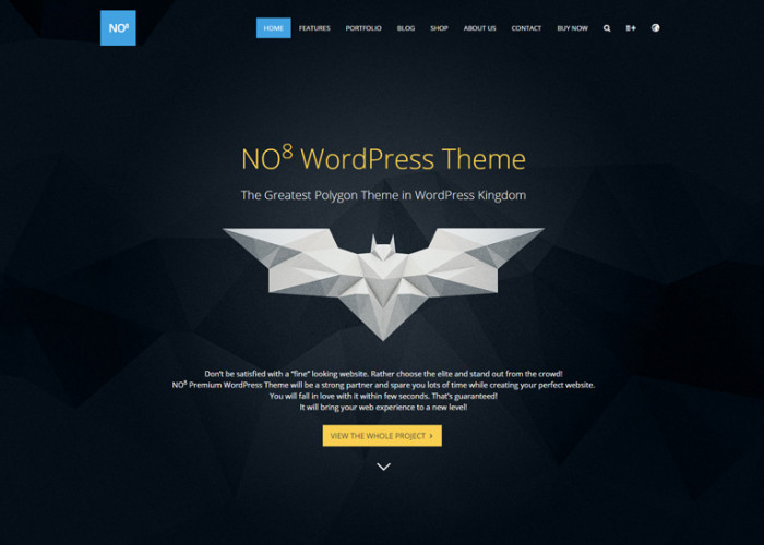 NO8 – Premium Responsive Creative Agency Portfolio WordPress Theme