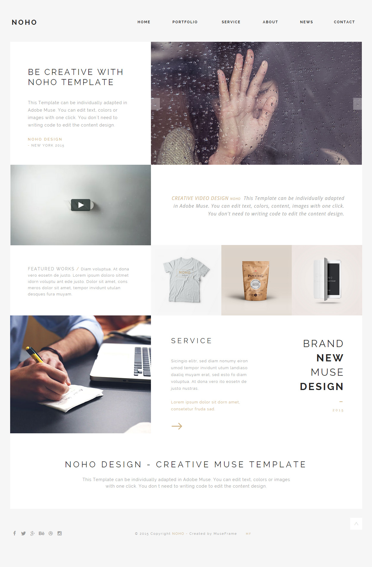 writing portfolio template